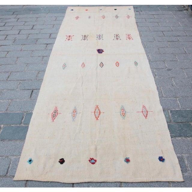 Anatolian Turkish Kilim - 10'11'' x 3'8'' - Image 11 of 11