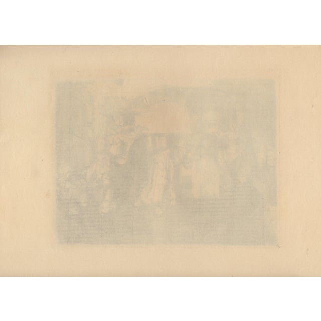 """After Rembrandt 20th c. Christ Preaching """"La Petite Tomb"""" Heliogravure For Sale - Image 4 of 4"""