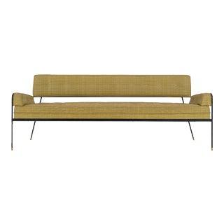 1950s Vintage Paul Tuttle Wrought Iron Sofa For Sale