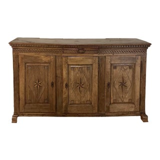 Rustic 18th Century Dutch Inlaid Buffet For Sale
