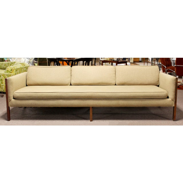 Mid-Century Modern Mid Century Modern Sofa Wood Framed Probber Knoll Attributed 1960s For Sale - Image 3 of 10
