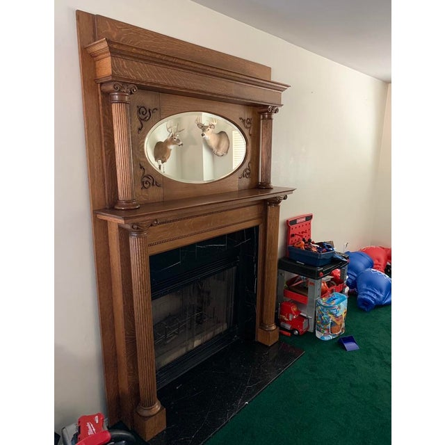 My mother purchased this beautiful antique mantel 25 years ago from an estate sale. It has been part of our home for a...