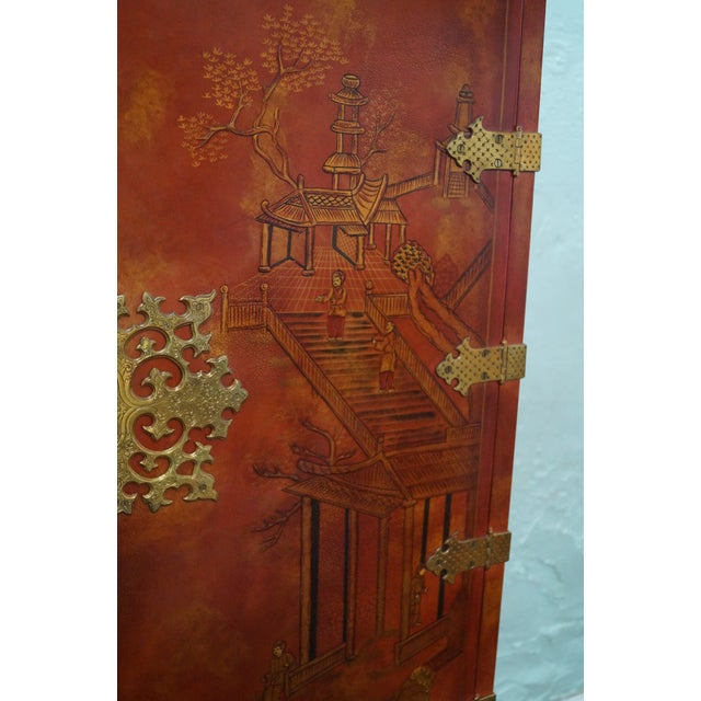 Maitland Smith Hand-Painted Chinoiserie Cabinet - Image 6 of 10