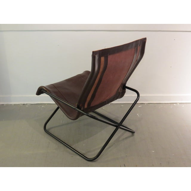 Vintage MCM Uchida Leather Sling Chair For Sale In Seattle - Image 6 of 11