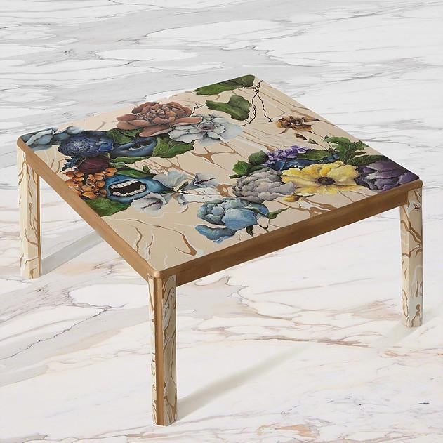 2010s 1 Funeral, 2 Faces, Hand-Painted Coffee Table by Atelier Miru For Sale - Image 5 of 5