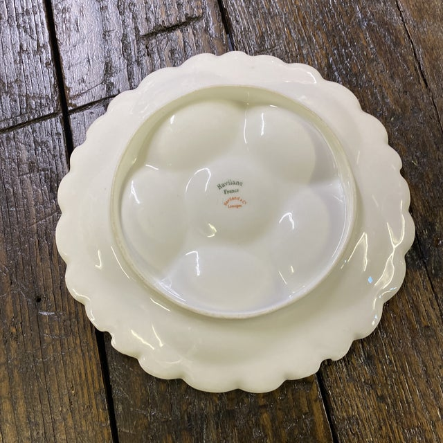 French Country Haviland Limoge Oyster Plate For Sale - Image 3 of 7