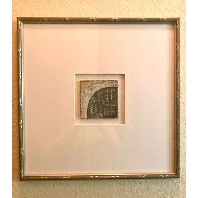 Small Matted Painting #3 With Silver Leaf Frame by Allen Kerr For Sale - Image 4 of 4