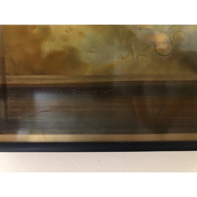 Abstract Bernhard Rohne Etched Brass Wall Piece For Sale - Image 3 of 7