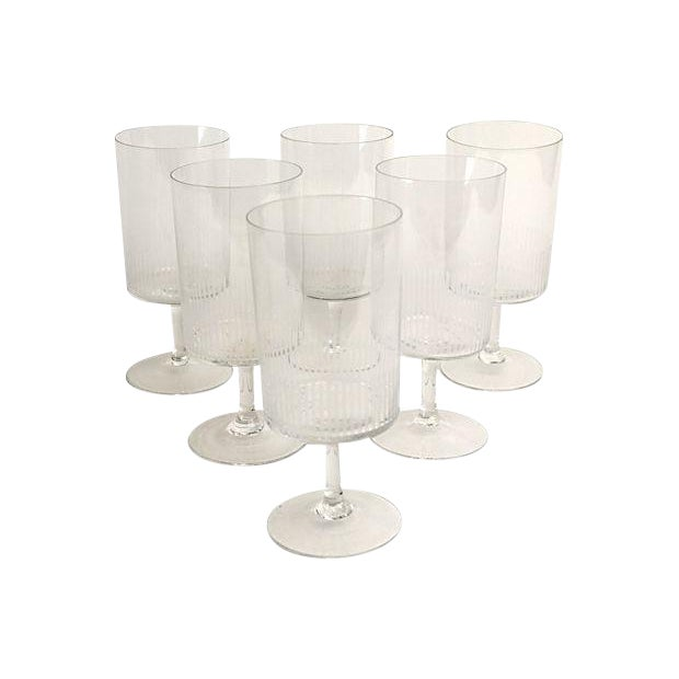 Mid-Century Etched Cordials - Set of 6 For Sale