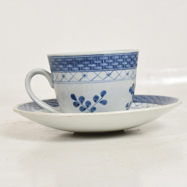 1960s Mid Century Danish Modern Coffee Tea Cup & Plate Set for (12) Twelve Person, Royal of Copenhagen Era For Sale - Image 5 of 11
