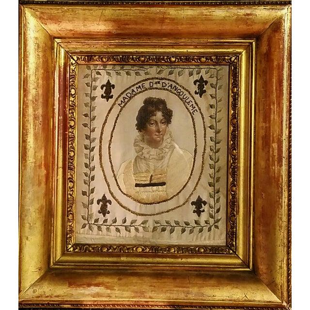 French Royal Painted Silk Textile Portrait, Marie Thérèse of France ...