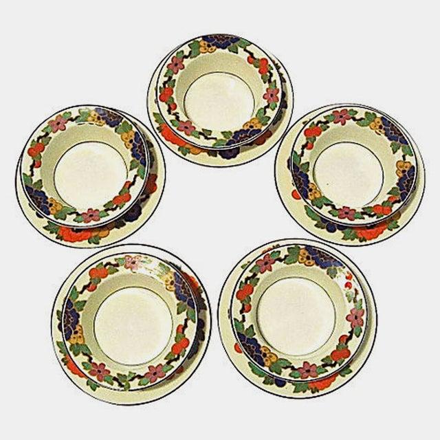 English Ramekins & Saucers - Set of 10 - Image 2 of 6