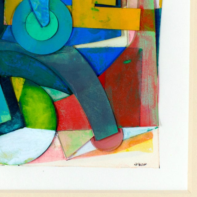 Frederick Lynch Abstract Gouache Collage For Sale - Image 4 of 5