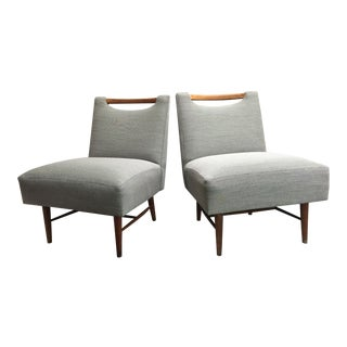 Mid Century Modern Paul McCobb Style Slipper Lounge Chairs - a Pair