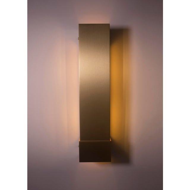 Orphan Work Modern Contemporary 001 Picture Light in Brass by Orphan Work For Sale - Image 4 of 6