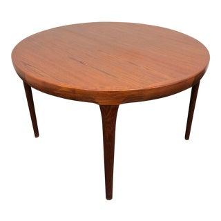 Faarup Mobelfabrik Solid Teak Danish Mid Century Modern Dining Table For Sale