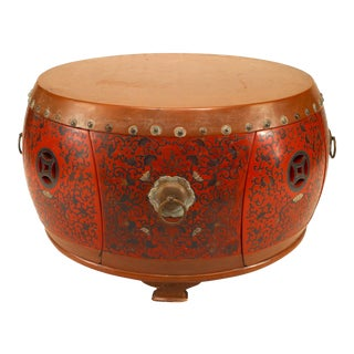 20th Century Chinese Lacquered Round Coffee Table For Sale