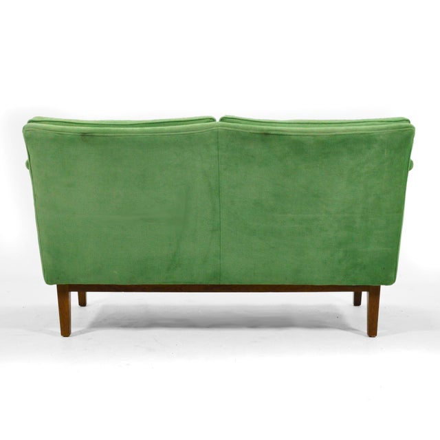 Green Edward Wormley Pair of Sofas / Settees For Sale - Image 8 of 10