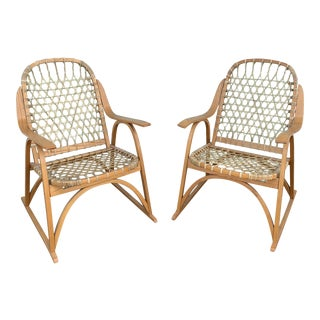 1980s Vermont Tubbs Snow Shoe Chairs - a Pair For Sale
