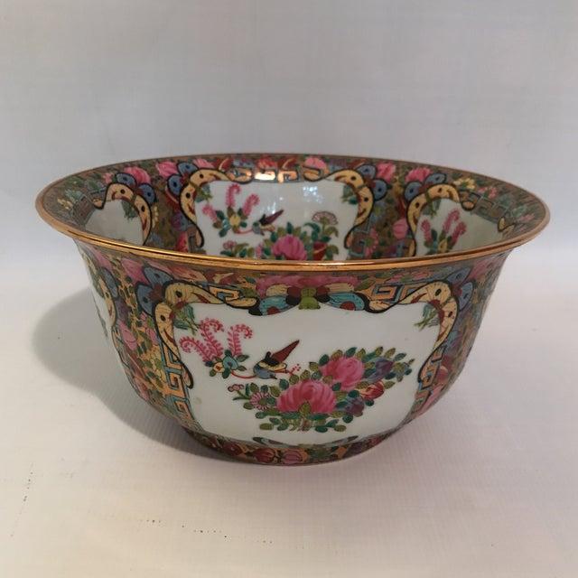 Rose Medallion Bowl For Sale - Image 4 of 11