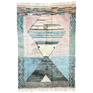 Contemporary Berber Moroccan Postmodern Memphis Style Rug - 6′10″ × 9′9″ For Sale
