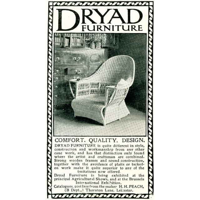 Wicker Harry Peach Company Drayad Registered Wicker Chaise, Accent Piece, Lounge, Room Accessory For Sale - Image 7 of 8
