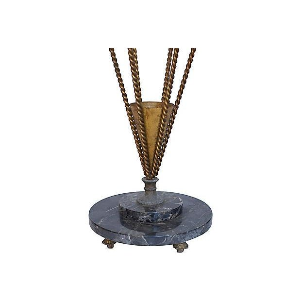 1950s 1950s Italian Gilt Umbrella Stand For Sale - Image 5 of 6