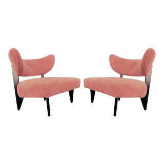 Sculptural Art Deco Lounge Chairs - A Pair For Sale