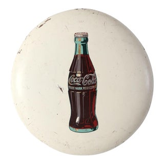 Coca-Cola Button Sign For Sale