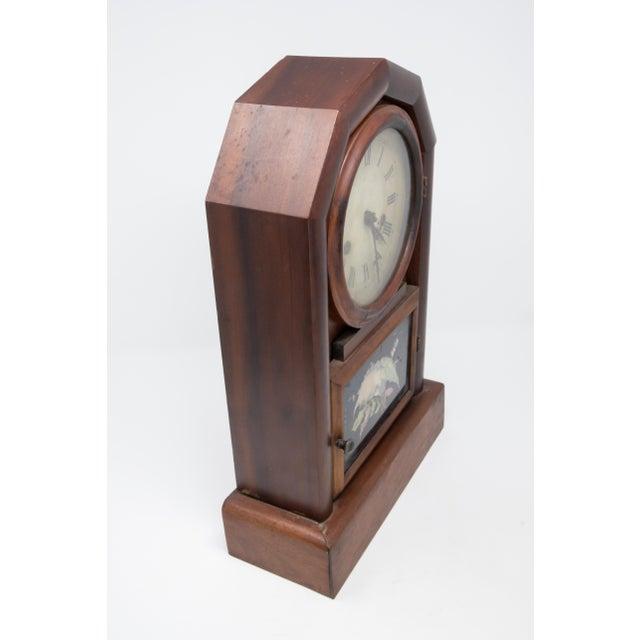 Brown New Haven Clock Co. Mantle Clock For Sale - Image 8 of 12