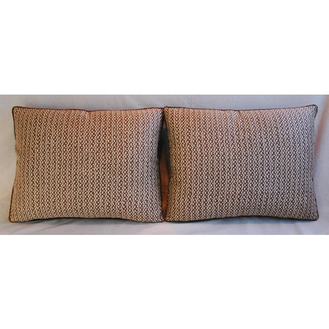 Italian Mariano Fortuny Tapa Feather & Down Pillows - A Pair - Image 3 of 10