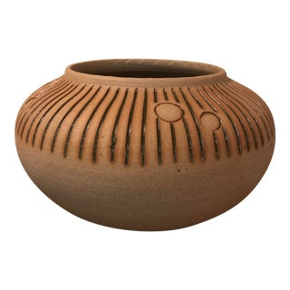 Hand Thrown Studio Earthenware Pot For Sale