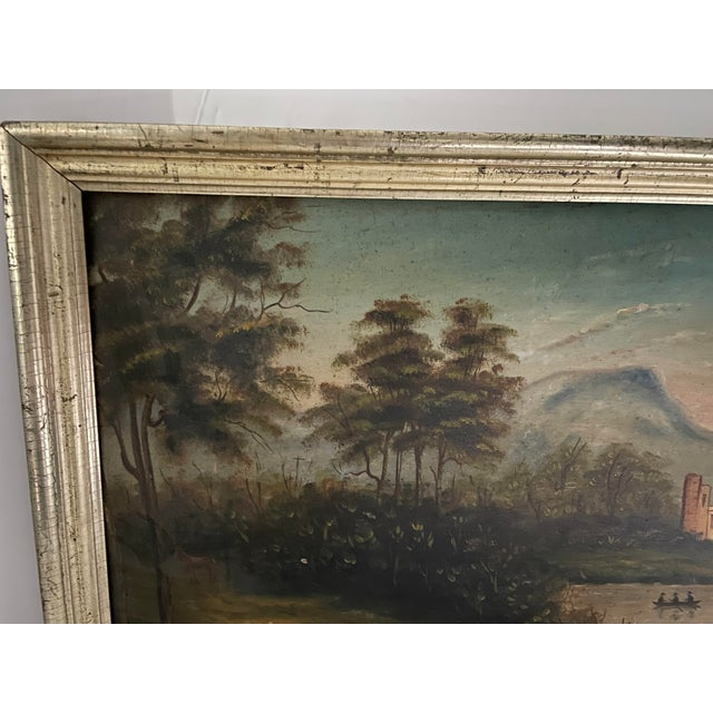 Antique Oil Painting of Landscape For Sale - Image 10 of 13