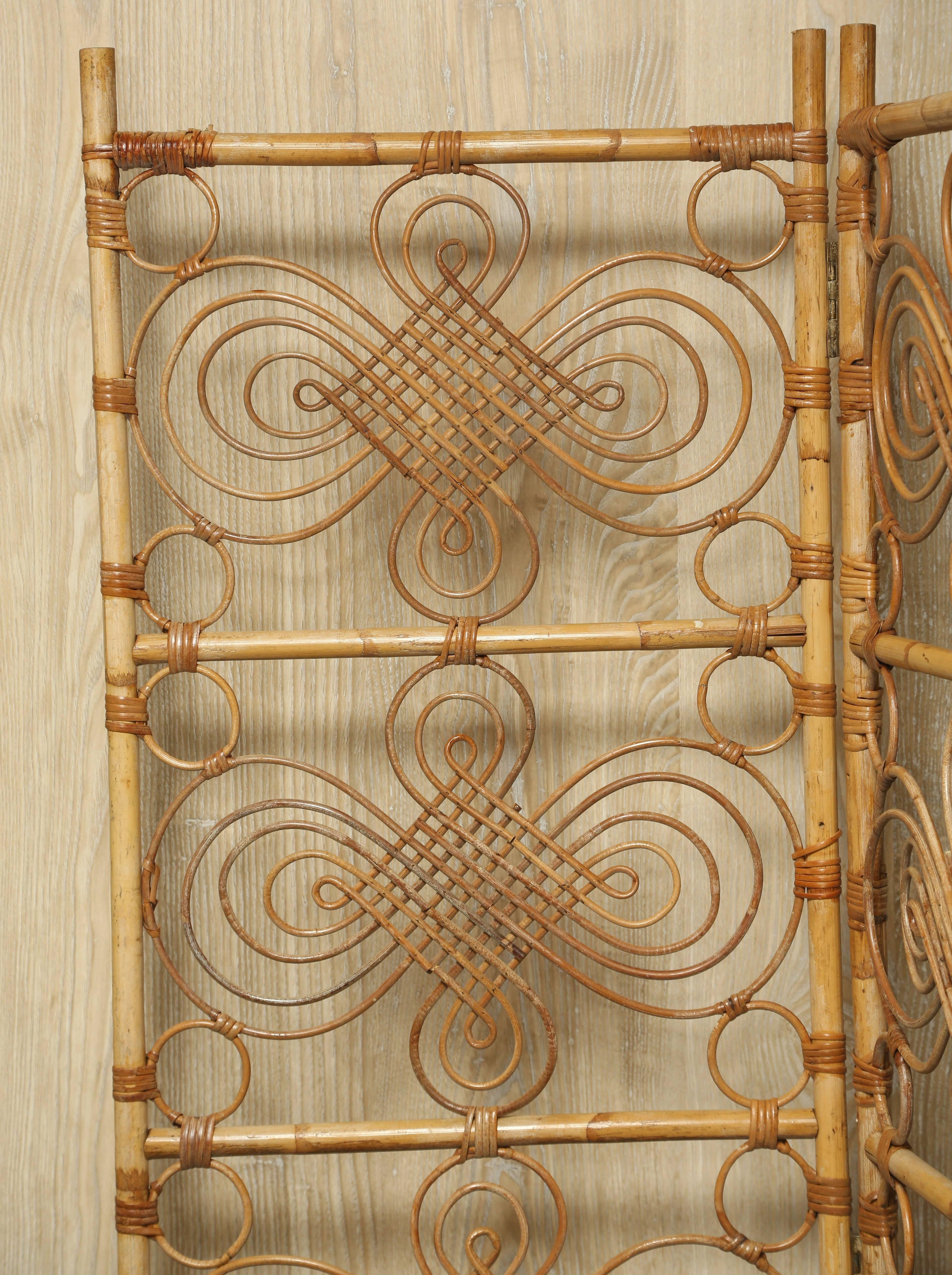 1960s Mid Century Modern Rattan Room Divider Chairish