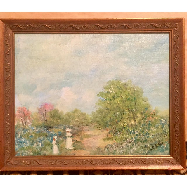 Oil Painting of Stroll in the Countryside - Image 2 of 5