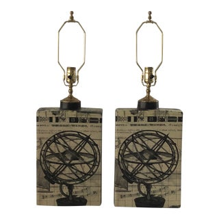 Table Lamps With a Nautical Design - a Pair For Sale