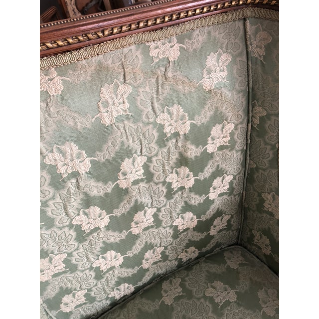 Ladies French Bergère Armchair For Sale - Image 11 of 13