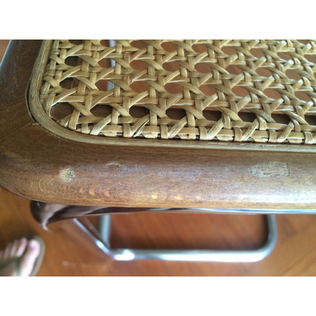 Marcel Breuer Style Cesca Bar Stool - A Pair For Sale - Image 7 of 7