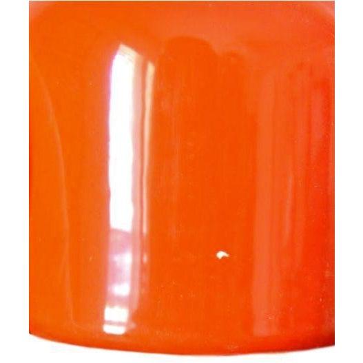 Tall Japanese Vintage Blood Orange Ceramic Salt & Pepper Shakers For Sale - Image 4 of 6