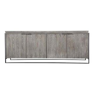 Grey Solid Elm Wood Buffet