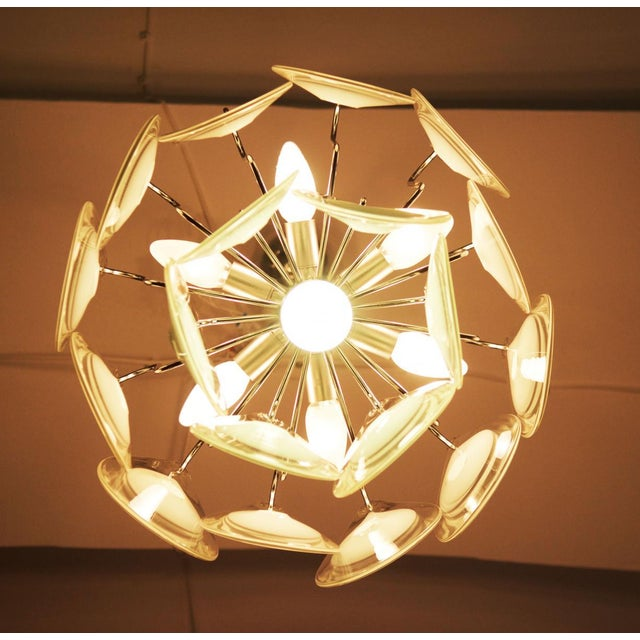Mid-Century Modern Art glass chandelier by Gino Vistosi for Venini For Sale - Image 3 of 11
