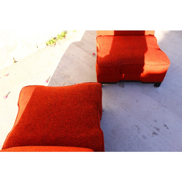 Rare James Mont Slipper Chairs - A Pair - Image 8 of 11
