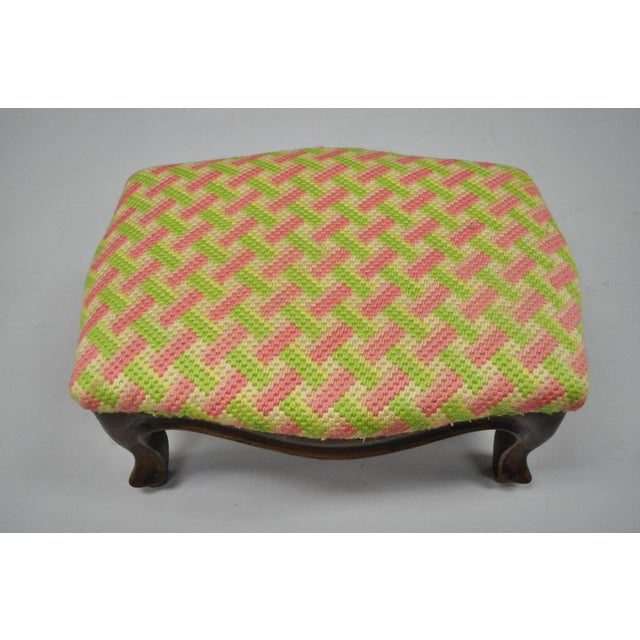 Early 20th Century Early 20th Century Antique Louis XV Style Walnut Footstool For Sale - Image 5 of 12
