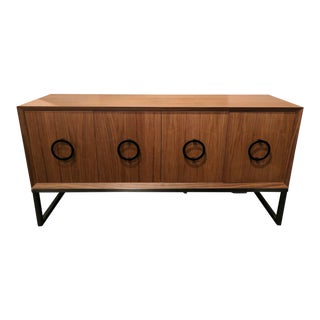 4-Door Walnut Console For Sale