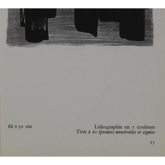 Abstract Small Pierre Soulages Pochoir Print For Sale - Image 3 of 3