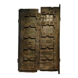 Hand Carved Moroccan Doors - A Pair For Sale