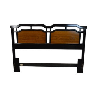 Thomasville Embassy Collection Vintage Asian Inspired Queen Headboard For Sale