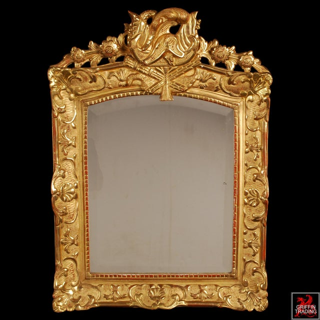 French Superb French Regency Period Giltwood Wall Mirror For Sale - Image 3 of 12