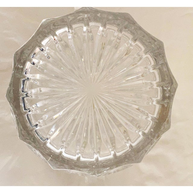 Transparent Vintage 1970s Lead Crystal Ice Bucket For Sale - Image 8 of 9