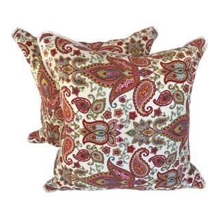 Belle Maison Paisley Linen Pillows - A Pair